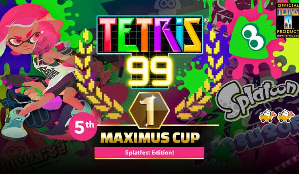 Tetris 99: The 5th MAXIMUS CUP brings a splat-tacular collaboration with Splatoon 2!